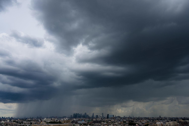 ゲリラ豪雨(新宿方面)